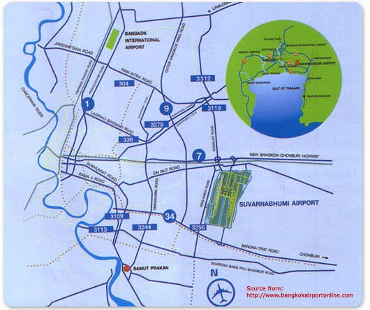 Map of Suvarnabhumi Airport